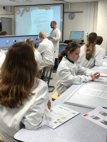 Photo of Stoke Gifford Scouts taking part in a science activity at UWE.
