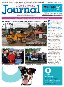 November/December 2019 issue of the Stoke Gifford Journal news magazine.
