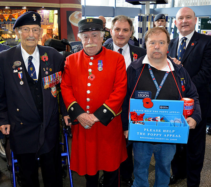 Photo of VIPs attending the Poppy Appeal launch.