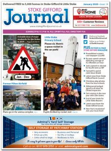 January 2020 issue of the Stoke Gifford Journal news magazine.