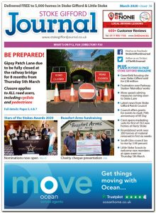 March 2020 issue of the Stoke Gifford Journal news magazine.