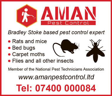 Aman Pest Control, serving Stoke Gifford and Little Stoke, Bristol.