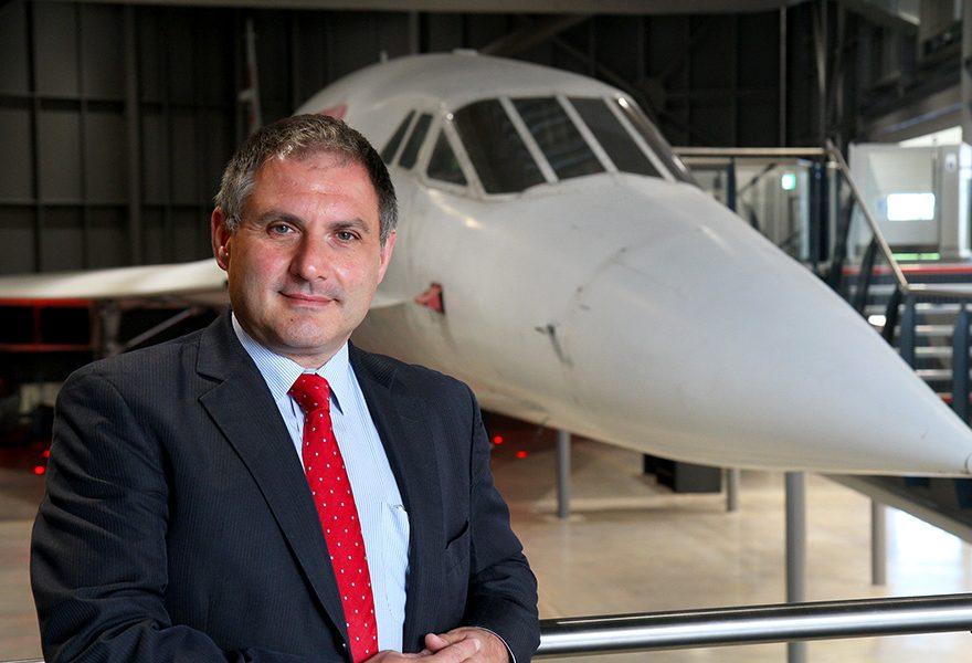 Photo of Jack Lopresti MP at the Aerospace Bristol museum.