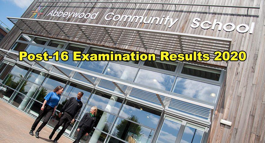 Abbeywood Community School: Post-16 examination results 2020.