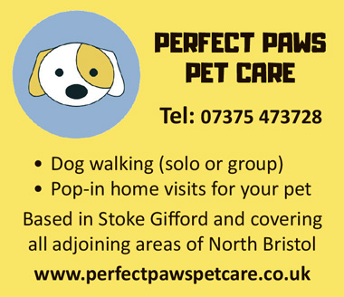 Perfect Paws Pet Care, serving Stoke Gifford and adjoining aread of north Bristol.