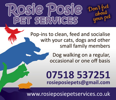 Rosie Posie Pet Services, serving north Bristol and South Gloucestershire.