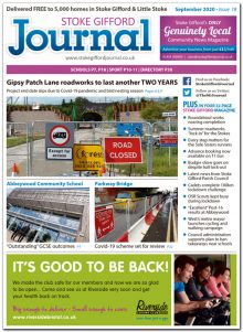 September 2020 issue of the Stoke Gifford Journal news magazine.
