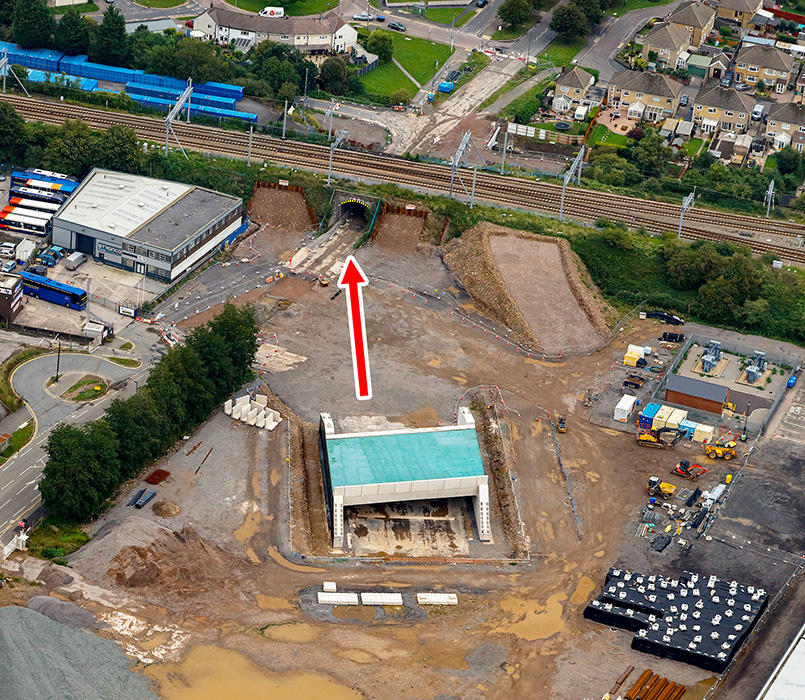 Aerial view of the site (august 2020).