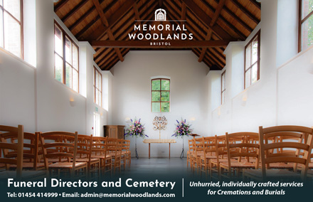 Memorial Woodland: Funeral directors and cemetery, South Gloucestershire.