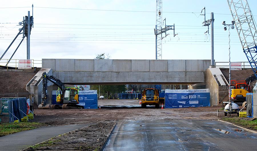 Photo of the new bridge Sunday 22nd November 2020.on