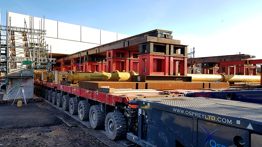Photo of the transporter units partially withdrawn.