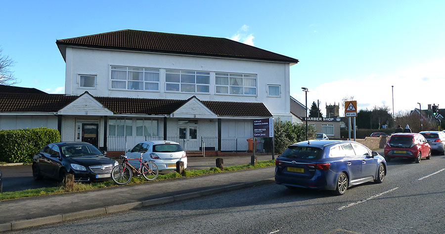 Photo of the former Co-operative food store, viewed from Hatchet Road.