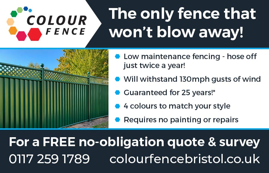 Low maintenance fencing from ColourFence Bristol.