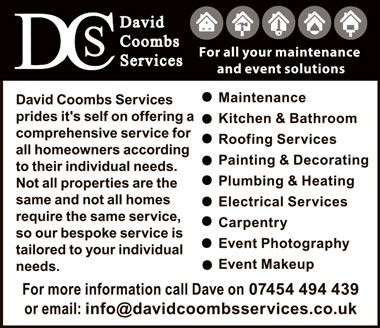 David Coombs Services – for all your maintenance and event solutions.