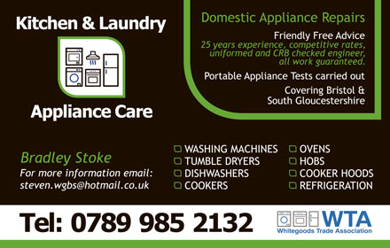 Kitchen & Laundry Appliance Care.