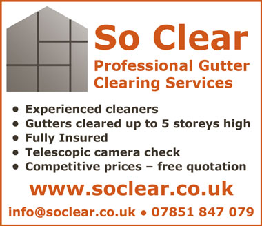 So Clear professional gutter clearing services in Bristol and South Glos.