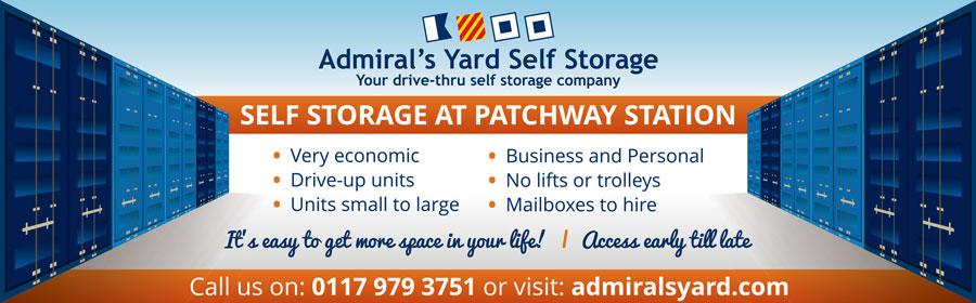 Admiral's Yard Self Storage, Station Road, Little Stoke, Bristol.