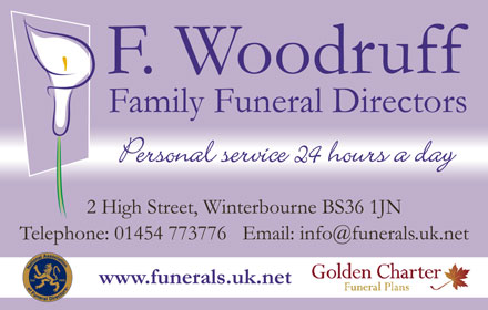 F. Woodruff, Family Funeral Directors, Winterbourne, Bristol.