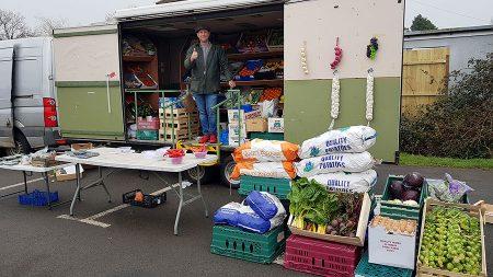 Photo of fruit & veg stall.