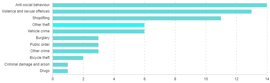 Graph showing crime types.