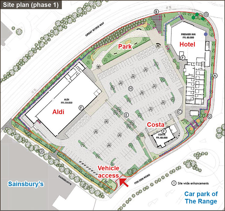 Site plan (Phase 1).