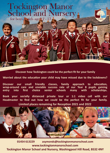 Tockington Manor School and Nursery, Bristol BS32 4NY.