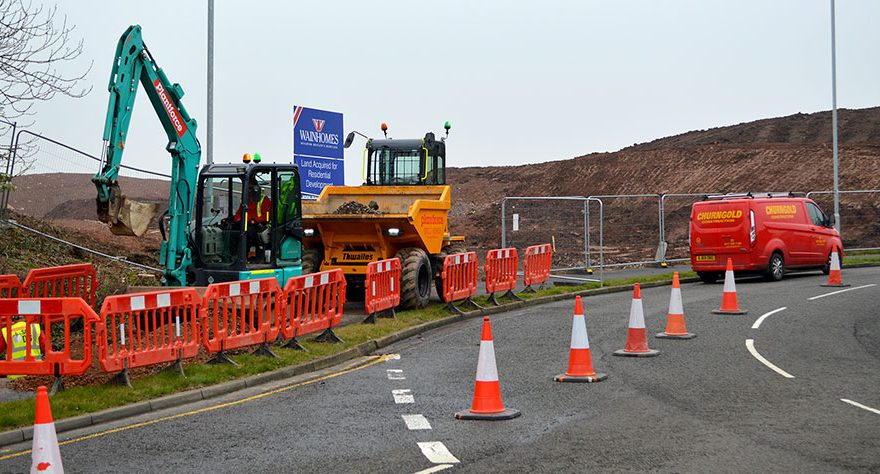 Photo of construction activity.