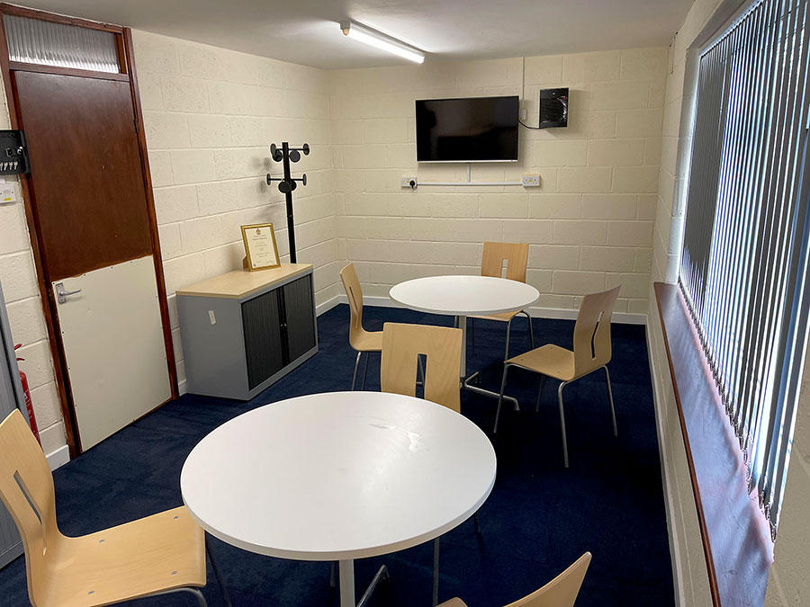 Photo of the meeting room after refurbishment.