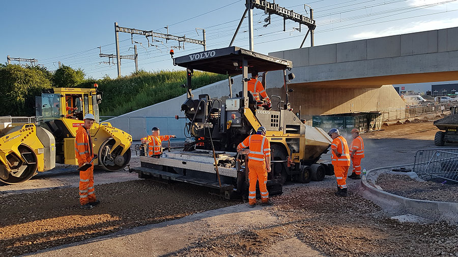 Photo of road resurfacing plant.